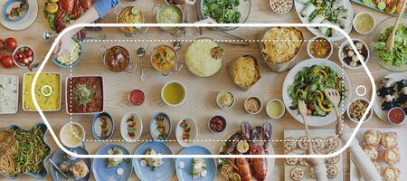 mediterranean food: Brand Branding Logo Label Business Concept