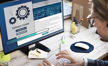 upgrade: Software Update Installation Upgrade Data Concept