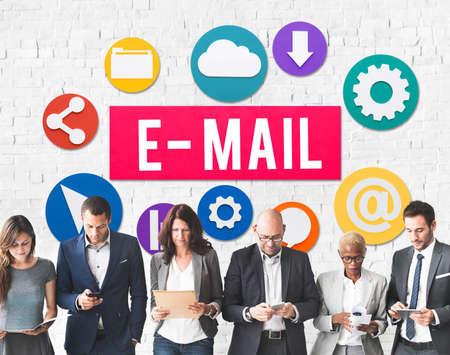 correspondence: E-mail concepto correspondencia digital Comunicaci�n Online Foto de archivo