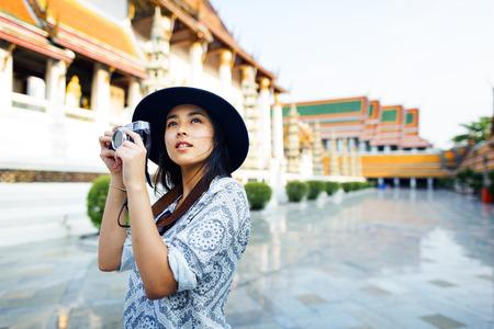 Fotografo di viaggio Sightseeing Wander Hobby Ricreazione Concetto