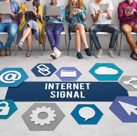 hotspot: Internet Signal Hotspot Networking Concept