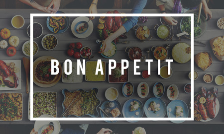 kulinarne: Bon Appetit Delicious Tasty Catering Cuisine Culinary Concept Zdjęcie Seryjne