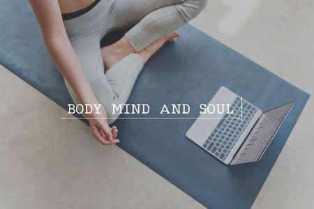 mind body soul: Body Soul Mind Descipline Strength Concept