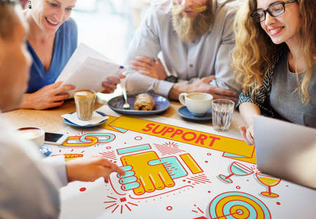 advice: Support Helping Advice Collaboration Concept Stock Photo