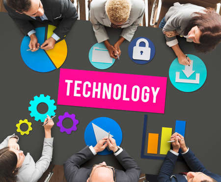 advanced: Business Technology Advanced Graphics Concept Stock Photo