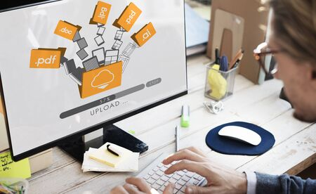storage: Data Backup Files Online Database Storage Concept