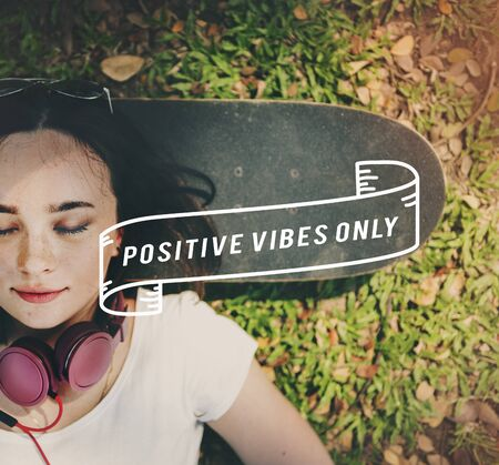 vibes: Positivity Positive Vibes Only Attitude Inspire Concept Stock Photo