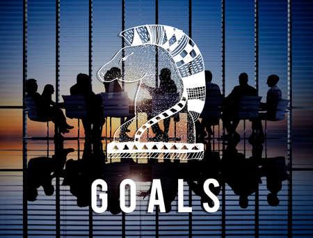 man business oriented: Goals Aim Believe Confidence Inspiration Target Concept Stock Photo