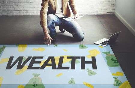 fund: Wealth Finance Economic Accounting Fund Concept Stock Photo