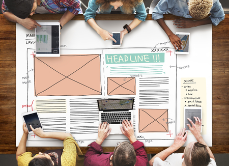 creativity: Design Magazine Creativity Layout Media Publication Concept Stock Photo