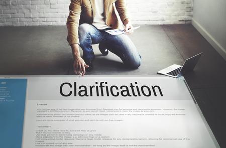 Clarification Determination Explanation Question Concept Imagens