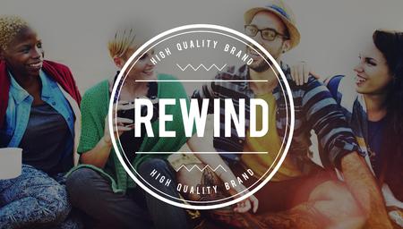 rewind: Rewind Playback Recover Reset Round Control Concept