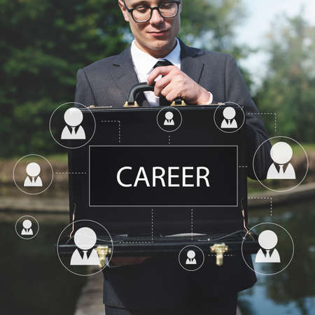 attache case: Recruitment Hiring Career job Emplyment Concept