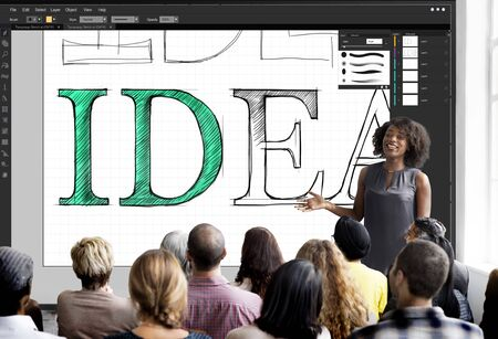 editing: Idea Text Editing Software Concept