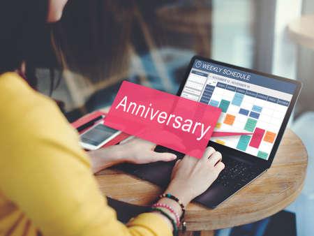 remember: Aniversario Celebración Anual Recuerde Concepto anual