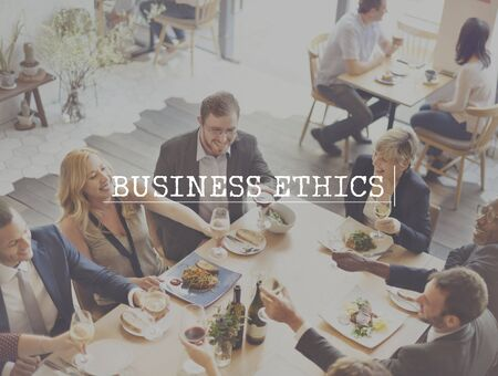 insider trading: Business Ethics Integrity Moral Honesty Trust Policies Concept Stock Photo