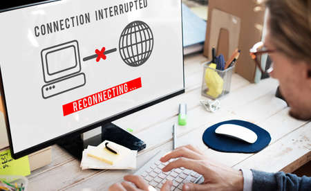 inaccessible: Interrupted Inaccessible Unavailable Disconnected Error Concept Stock Photo