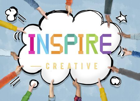 Inspire Hopeful Believe Aspiration Vision Innovate Concept Stock Photo