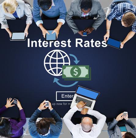 interest: Interest Rates Economy Financial Percentage Concept