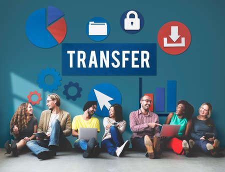 friend chart: Transfer Transmission Word Graphic Concept