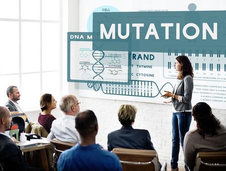 mutation: Mutation Biology Chemistry Genetic Scientific Concept Stock Photo
