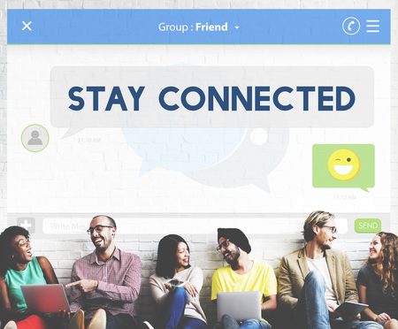 stay: Social Media Stay Connected Concept