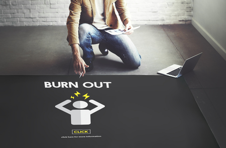 Burn out Stress Tired Overworked Concept