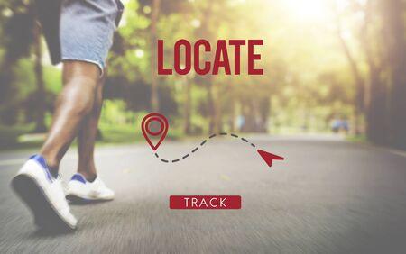 position d amour: Localiser Lieu Direction Destination Position Concept Banque d'images