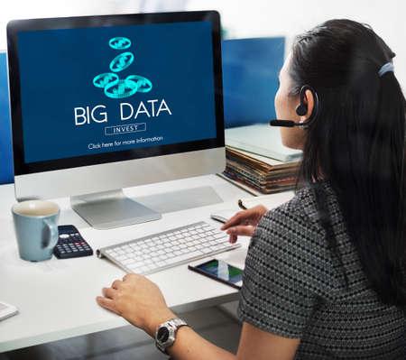storage: Big Data Digital Information Network Storage Concept Stock Photo