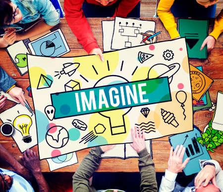 Imagine Creative Thinking Vision Dream Expect Concept