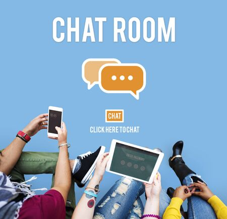 chat room: Chat Room Online Messaging Communication Connection Technology Concept