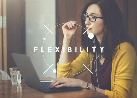 easygoing: Flexibility Flexible Solution Adjusting Balance Concept