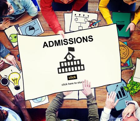 Admisiones Educación Universidad Conocimiento concepto académico Foto de archivo - 58208006