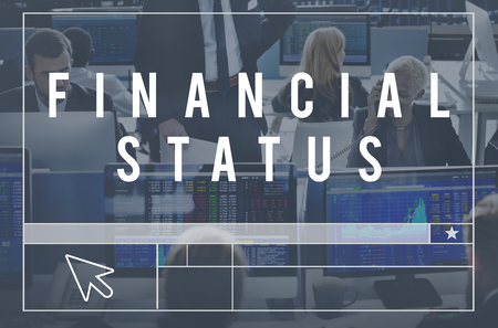 financial concept: Financial Status Budget Credit Debt Planning Concept