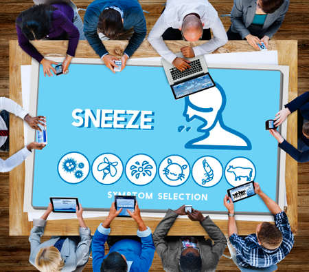 estornudo: Estornudar Trastorno Alergia Enfermedad concepto del cuidado m�dico