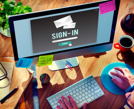 signup: Sign-in Sign-up Application Apply Enroll Enter Concept Stock Photo