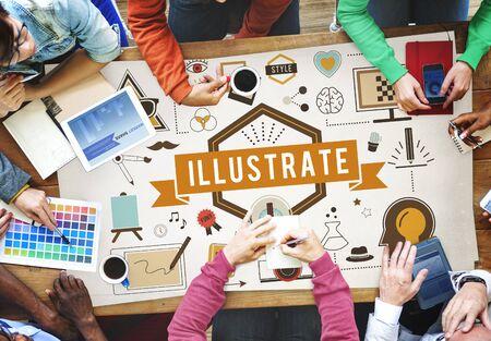 elegance: Illustrative Illustration Artistic Creative Elegance Concept