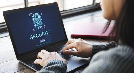 Technology Security Fingerprint Password Concept Reklamní fotografie