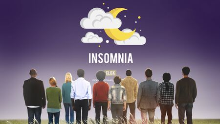 ilness: Insomnia Disorder Problem Ilness Sleep Concept Stock Photo
