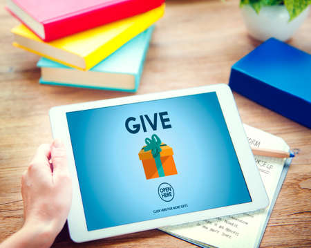 generosity: Give Donate Generosity Giving Support Help Concept Stock Photo