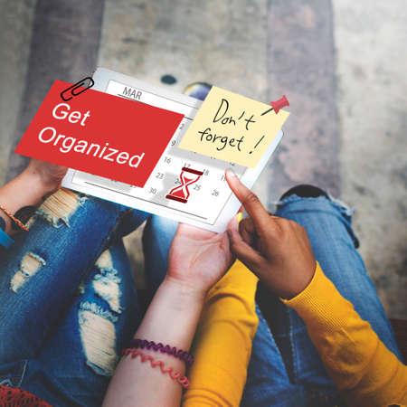organized: Get Organized Planner Calendar Management Concept