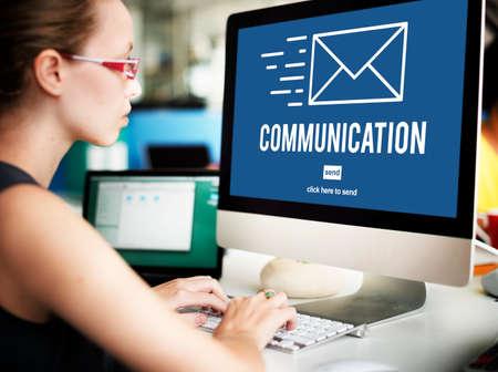 correspondencia: Communication Connection Correspondence Email Concept