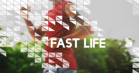 fast lane: Fast Life Rushing Speed Hurry City Life Lifestyle Concept