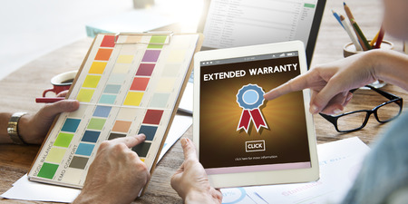 Extended Warranty Guaranteed Quality Safety Service Concept