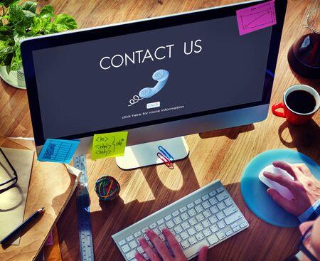 hotline: Contact Hotline Call Advice Communication Concept
