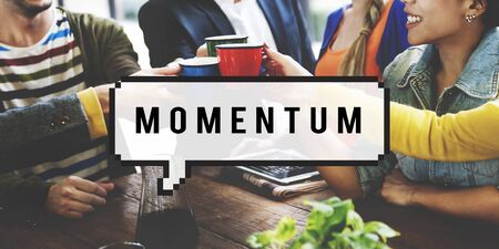 momentum: Momentum Acceleration Management Vision Concept Stock Photo