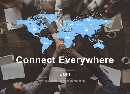 everywhere: Connect Everywhere Global Network Worldwide Concept