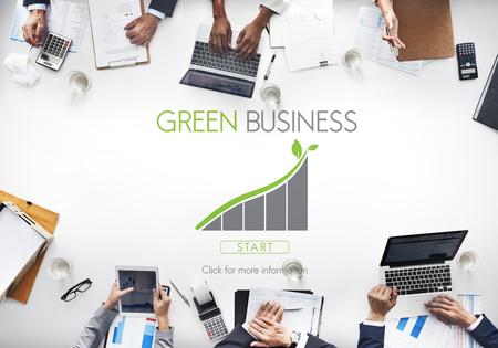 webpage: Green Business Environment Ecology Concept