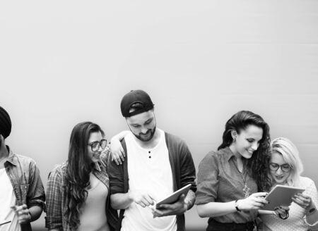 estudiantes universitarios: Colegas Conexión Estudiantil Relación Equipo Concepto
