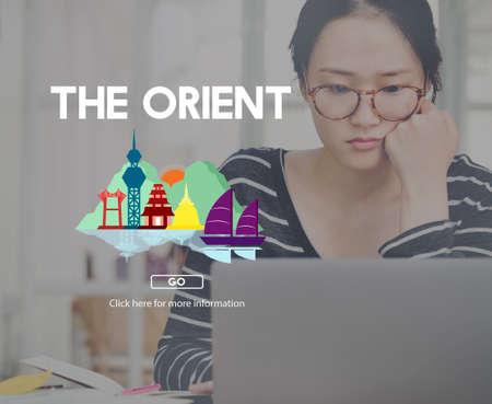orient: Orient Culture Famous Landmark East Tourism Concept